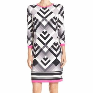 {Eliza J} Graphic Print Jersey Shift Dress Size 6P